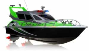 Electric Full Function QUALITY Big Size Remote Control 4 CHANNEL Patrol Craft Police Airship RTR RC Boat W Rechargeable Batteries (Colors May Vary)