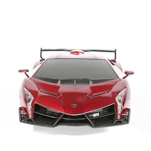 RW 124 Scale Lamborghini Veneno Car Radio Remote Control Sport Racing Car RC,Red