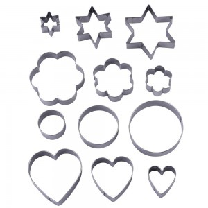 12 Pieces Metal Cookie Cutters
