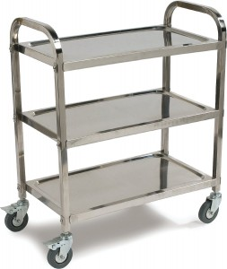 Carlisle UC4031733 Knockdown Stainless Steel 3 Shelf Utility Service Cart