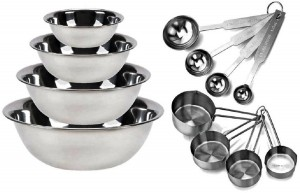 Kitchen MissionTM Stainless Steel Mixing Bowls 1.5,3,4, and 5 quart