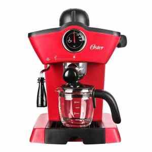 Oster BVSTEM4188 Red Steam Espresso Cappuccino Maker