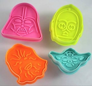 Set of 4 Star Wars Plunger Cookie Cutters