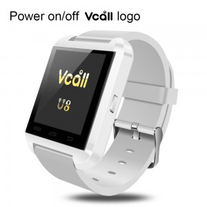 VCALL New U8 Bluetooth Smartwatch Smart Watch Wristwatch Long Battery Life Phone Mate for Samsung Huawei Android Smart Cell Phones