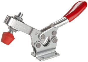 DE STA CO 213-U Horizontal Handle Hold Down Action Clamp with U-Shaped Bar and Flanged Base