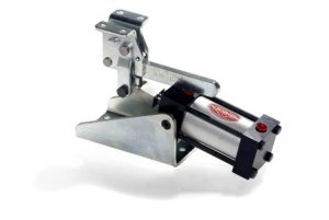 DE STA CO 847-U Standard Pneumatic Hold Down Action Clamp with U-Bar and Flanged Washers
