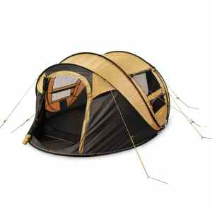 FiveJoy 4-Person Instant Pop-Up Tent - Automatic Setup in Seconds - Easy Fold Up - Great Family Outdoor Camping Tents Shelters