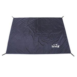 Hewolf 77Inch x 59Inch Black Color Thick Oxford Cloth Tent Footprint Waterproof Sleeping Pads for Camping Hiking Backpacking Picnic Shelter Shade Canopy Outdoor Activities