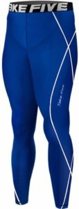 New 054 Skin Tights Compression Leggings Base Layer Blue Running Pants Mens