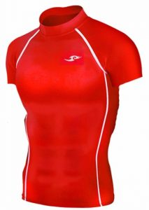 New Take Five Base Layer Mens Compression Skin Tights 036 Red Sports Top