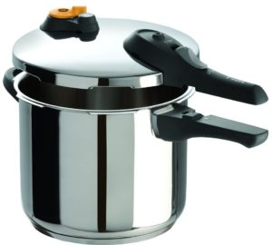 T-fal P25107 Stainless Steel Dishwasher Safe FTFE PFOA and Cadmium Free Pressure Cooker Cookware, 6.3-Quart