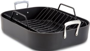All-Clad E87599 Hard Anodized Aluminum Scratch Resistant Nonstick Anti-Warp Base 16-Inch by 13-Inch Large Roaster Roasting Pan