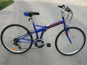 Columba 26 Folding Bike w. Shimano 18 Speed Blue (SP26S_BLU)