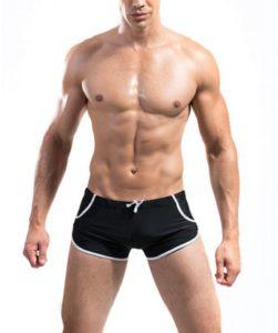 DESMIIT Men's Rope Waist Design Swim Briefs