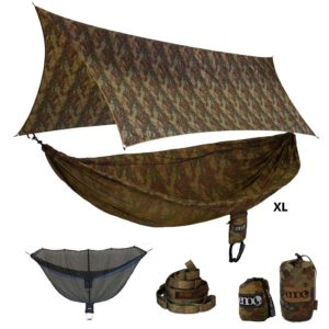 Eagles Nest CamoLink XL Hammock Shelter System Forest Camo One Size