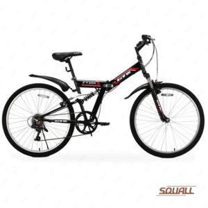 GTM 26 7 Speed Folding Mountain Bike Bicycle Shimano Hybrid Suspension MTB Black Big Sale