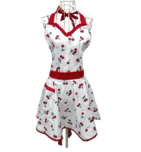 Lady Lovely Princess White Aprons Sweetheart Cotton Apron with Pocket for Woman Cooking Kitchen
