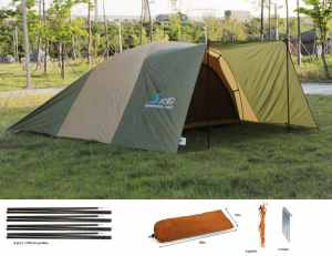 Luxetempo All Purpose Extra Large Camping Rain Tarp Tent Hammock Rain Fly Sun Shelter-12 12 ft 4 collapsible poles guylines 10 guypoints