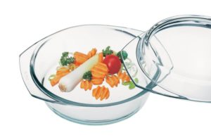 Simax Glassware 62266236 Round Casserole Pan with Lid