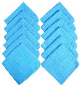 Sinland Microfiber Waffle Weave Dish Cloths Household Kitchen Cleaning Cloth Wiping Cloth Wash Cloth