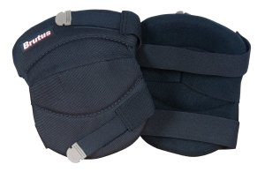Brutus 79637BR Contour Washable Knee Pads for Hard and Soft Surfaces with Velcro Strap