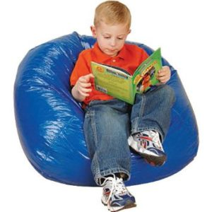 Child Sized Blue Beanbag Chair