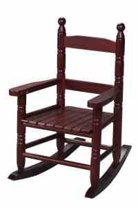 Gift Mark Child's Double Slat Back Rocking Chair, Cherry