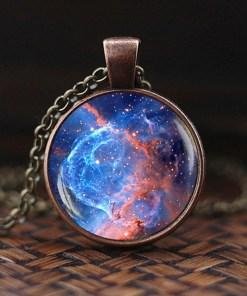 Pendentif Galaxie, Système Solaire Ou Voie Lactée Bijoux 4