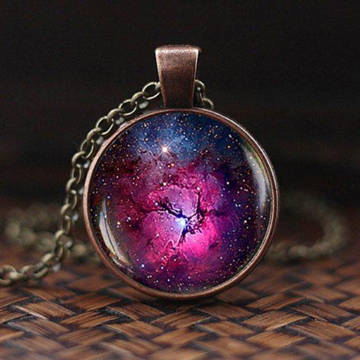 Pendentif Galaxie, Système Solaire Ou Voie Lactée Bijoux 5
