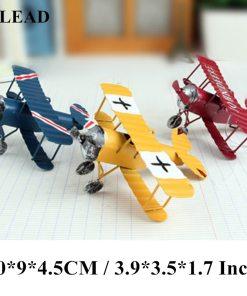 Avions Biplan Rétro Vintage Pour Décoration Intérieure Ou Cadeau