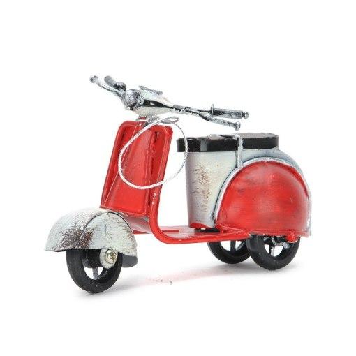 Scooter Rétro Vintage Fait Main Pour Décoration Intérieure ou Pour Cadeau 3