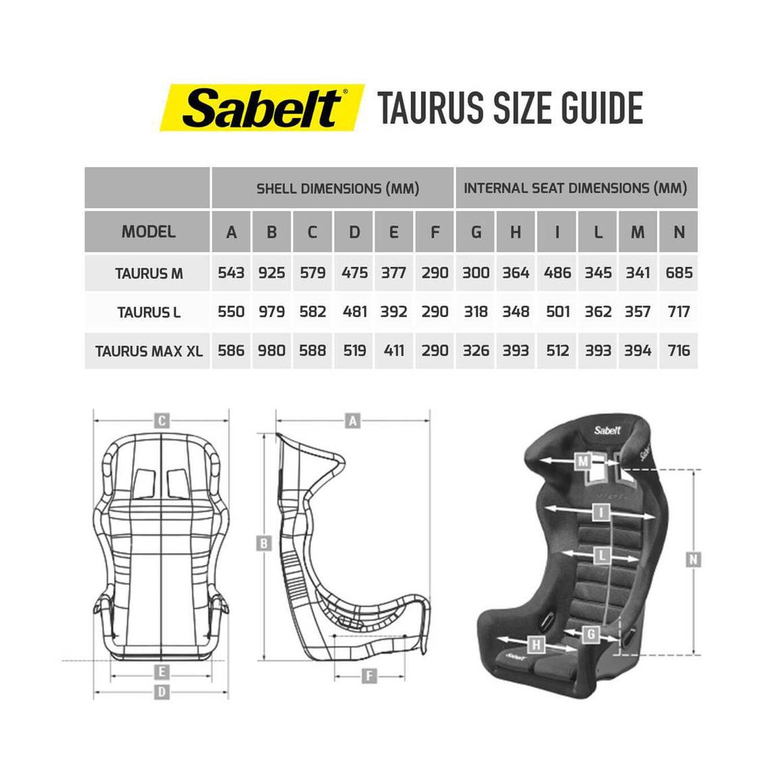 Sabelt Taurus L Car Seat Fia Homologation