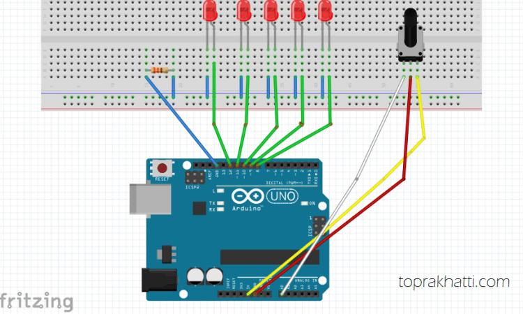 Arduino İle led hız kontrol devresi toprak hattı