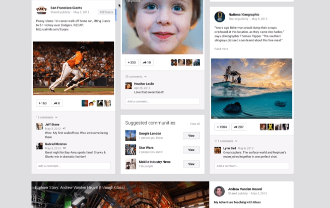 New Google+ Stream, Hangouts, and Photos