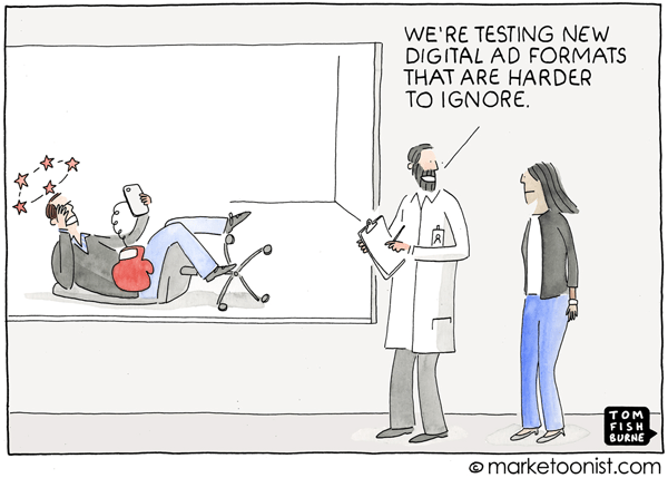 Marketoonist Tom Fishburne Digital Ads Cartoon