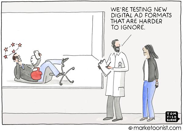 Marketoonist Tom Fishburne Digital Ads Cartoon