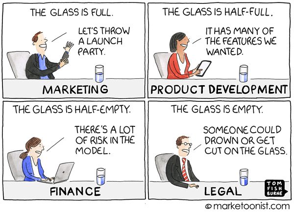 Glass Half Full Marketoonist Cartoon