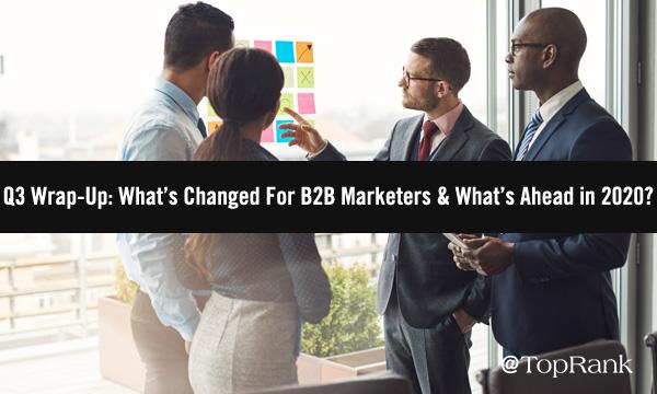 QQ Digital Marketing Recap Standing Businesspeople Image
