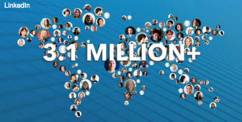 3.1 million marketers LinkedIn