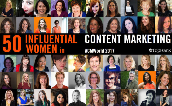 50 Influential Women Content Marketing