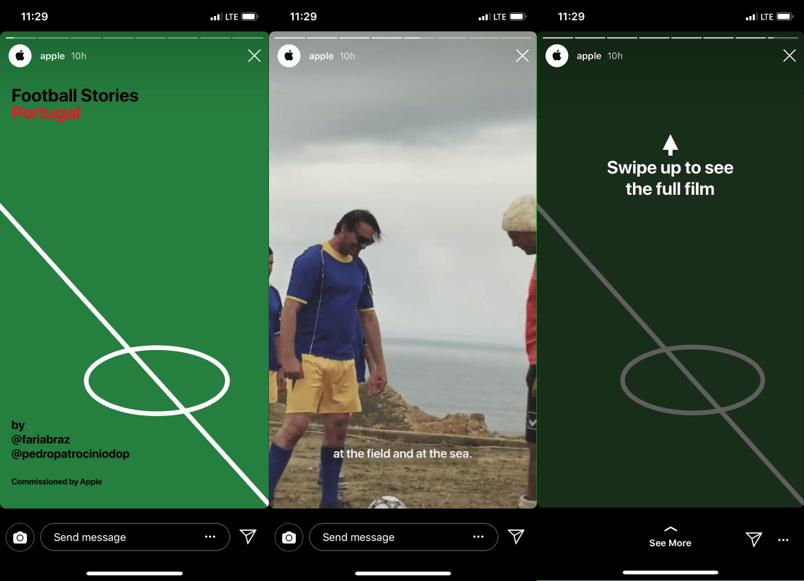 Apple Instagram Stories Example