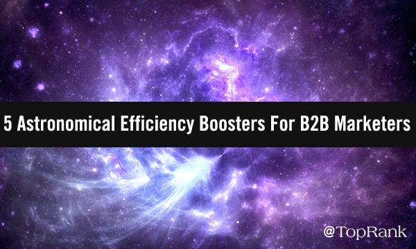 Purple interstellar galaxy of B2B marketing efficiency boosters image.