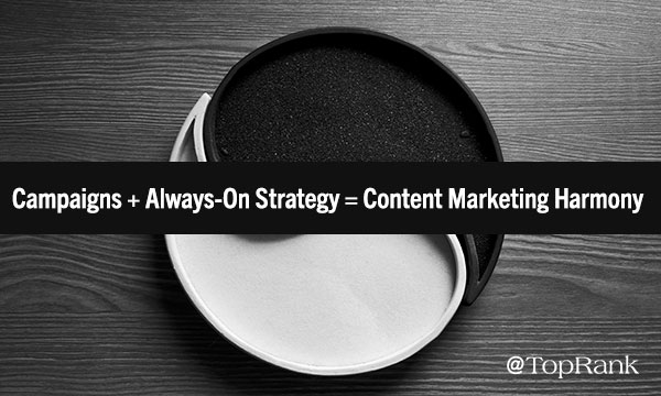 Campaigns + Always-On Strategy = Content Marketing Harmony