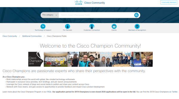 Cisco Champions Community