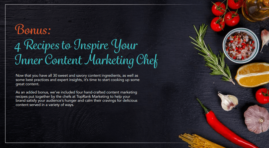 Content Marketing Recipe for Inner Chef
