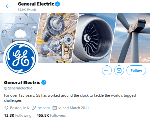 General Electric Twitter
