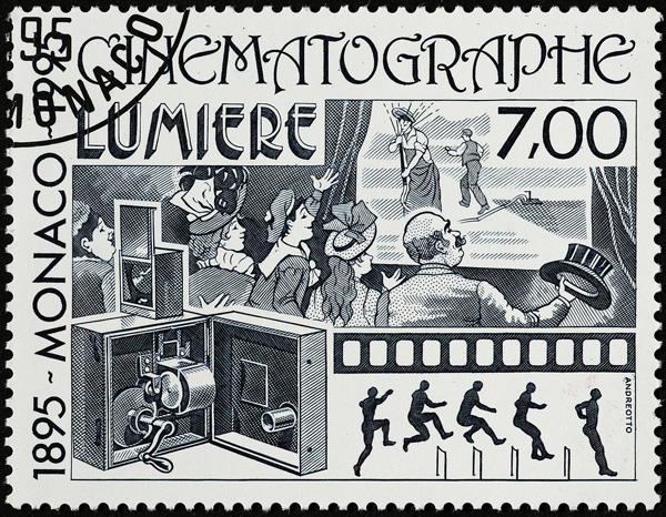 Cinematographe Lumiere Monoco Postal Stamp
