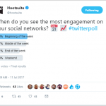 Hootsuite Poll Example