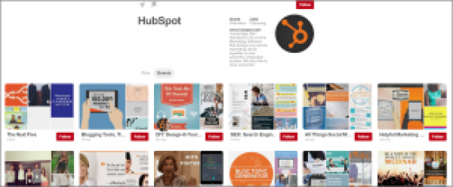 Example of HubSpot on Pinterest