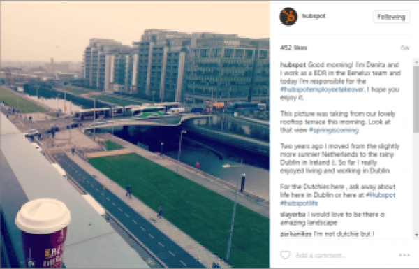 HubSpot Company Culture on Instagram